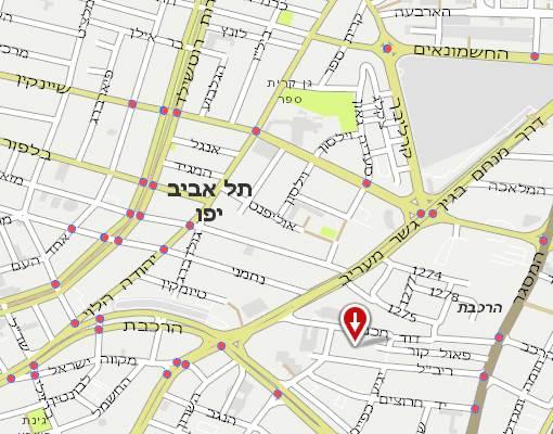 הוראות הגעה עבור בית הספר ירדן סניף תל אביב